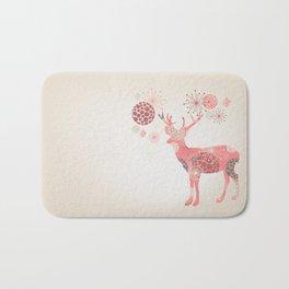 Flower deer Bath Mat