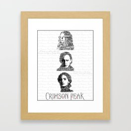 Crimson Peak typography Framed Art Print