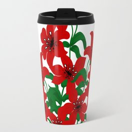Bouquet of red lilies Travel Mug