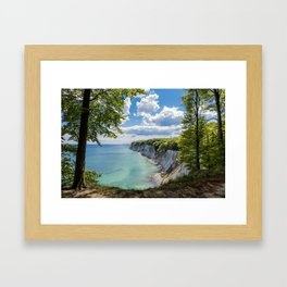 Chalk cliffs on the Baltic Sea coast Framed Art Print