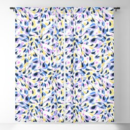 Watercolor abstract pattern pattern Blackout Curtain