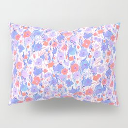 Flower Field Apricot Lilac Pillow Sham
