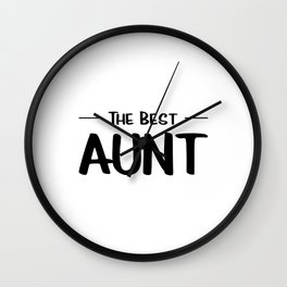 The Best Aunt Wall Clock