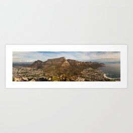 Table Mountain from Lion's Head, Cape Town, South Africa Art Print