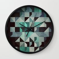 noir Wall Clocks featuring noir? by Spires