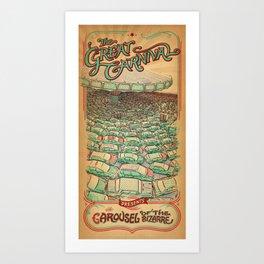 The Carousel of the Bizarre  Art Print