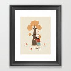 Le gentil bucheron Framed Art Print