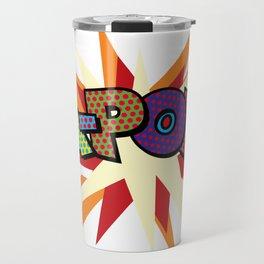 Comic Book Pop Art Sans KA-POW Travel Mug