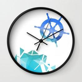 Steering wheel low-poly vector illustration. Wall Clock