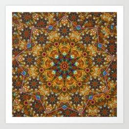 Aztec paisley Art Print