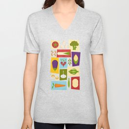 Farm to Table_pattern Unisex V-Neck