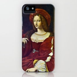 Joanna of Aragon by Raphael iPhone Case
