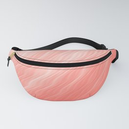 Living Coral Wavy Ombre Pattern Fanny Pack