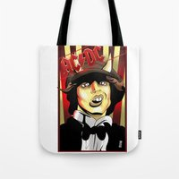 acdc Tote Bags featuring Rockarture ACDC by JHC Studio