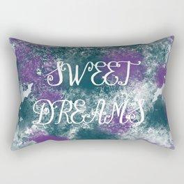 Sweet Dreams Paint Splatter Rectangular Pillow
