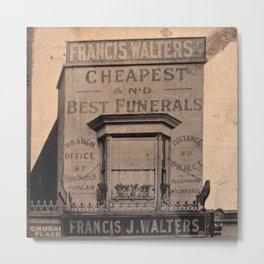 Cheapest Funerals Francis J. Walters London Storefront black and white photograph Metal Print