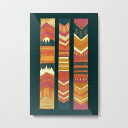 Navii Geometric Tapestry Metal Print