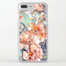 Aquarell Floral 05 Clear iPhone Case