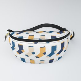 Colorful Socks Pattern - Blue & Yellow Fanny Pack