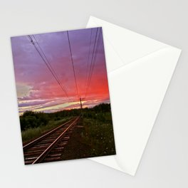 Northern sunset at white night Stationery Cards