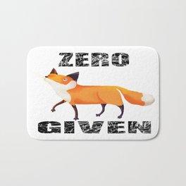 Zero Fox Given Bath Mat