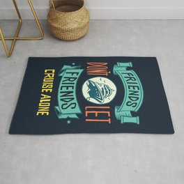 Funny Cruise Ship Quote Rug