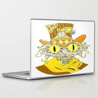 steam punk Laptop & iPad Skins featuring Steam Punk Cat by J&C Creations