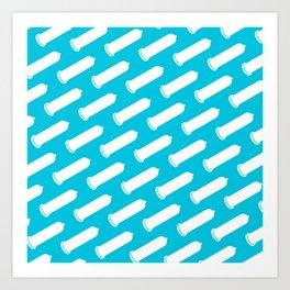 LYC Condom Pyjama Top - Blue Art Print