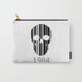 Barcode Skull 1984 Carry-All Pouch