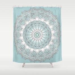 Mandala - Boho - Sacred Geometry - Pastels - Shower Curtain