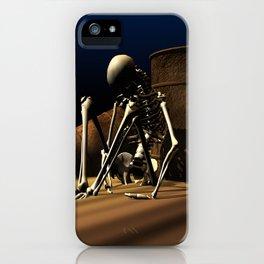 der Mensch zerstört sich selbst. iPhone Case