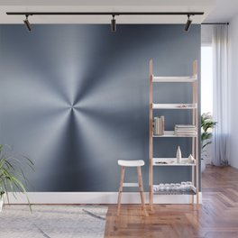 Radial Brushed Metal Texture - Industrial Graphic Design Wall Mural