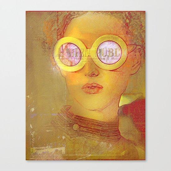 La fille de l'affiche Canvas Print