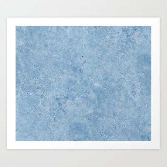 Lento blue marble Art Print