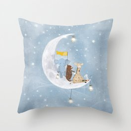 starlight wishes with you Throw Pillow