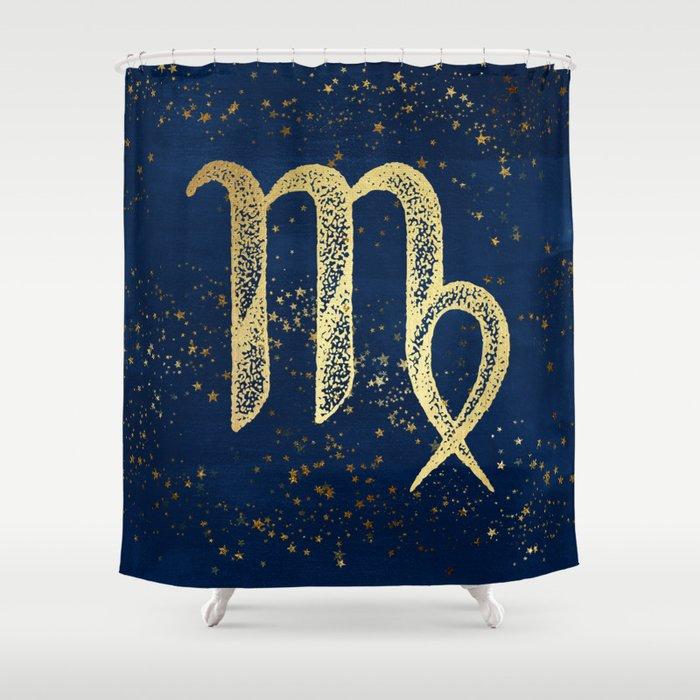 Virgo Zodiac Sign Shower Curtain