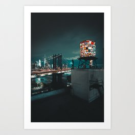 The Water Tower New York City (Color) Art Print