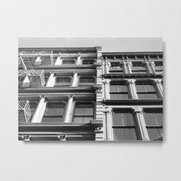 SoHo Buildings | New York City, Black and White Photography Metal Print