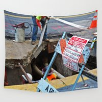 work hard Wall Tapestries featuring Hard Work by Manford Holmes