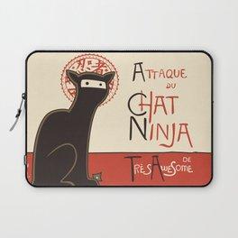A French Ninja Cat (Le Chat Ninja) Laptop Sleeve