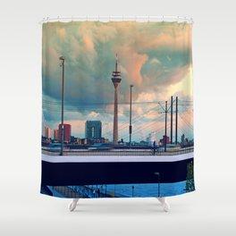 Düsseldorf Panorama Shower Curtain
