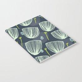 Tulip Garden M+M Navy Black by Friztin Notebook