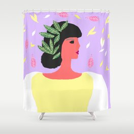 MINI ART Athenian lady in Panathinea Shower Curtain