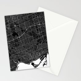 Toronto - Minimalist City Map Stationery Cards