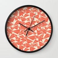 aviation Wall Clocks featuring School Yard Aviation Solid by Dianne Delahunty
