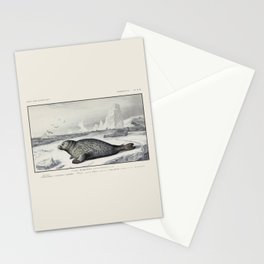 Vintage Harbor Seal Stationery Cards