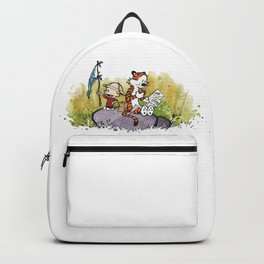 Calvin And Hobbes mapping Backpack