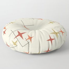 Mid Century Modern Stars Floor Pillow