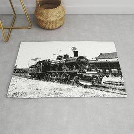 Riding the Rails - Vintage Steam Train Rug
