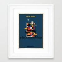 radiohead Framed Art Prints featuring Radiohead by federico babina